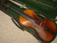 Nicely flamed  old violin
