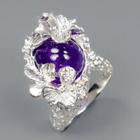 Amethyst Ring Silver 925 Sterling Handmade Sale Jewelry Size 7 /R147066