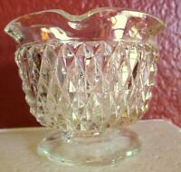 Candle Holder Indiana Glass Diamond Point Textured Tiara Taper Votive Clear Vtg