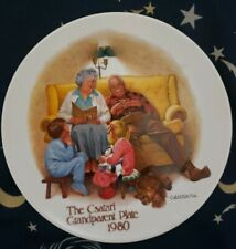 """The Csatari Grandparent Plate 1980-Only Edition of """"The Bed Time Story"""""""