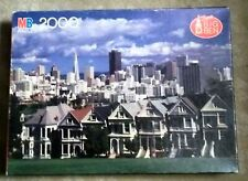 2000 Pc SEALED Puzzle Victorian Houses Painted Ladies San Francisco MB