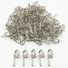 SILVER CURTAIN HOOKS x 50 NEW SOLID METAL STEEL HEADER TAPE PENCIL PLEAT RAILS