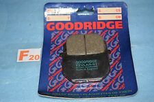 2 plaquettes de frein  Goodridge Suzuki GS 250 450 850 1000 GSX 400 750 GV 700