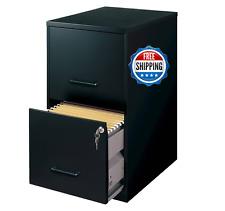 HIRSH Black Vertical 2-Drawer Filing Cabinet Metal Home Office
