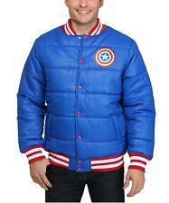 Men's MARVEL Captain America Puffer Jacket XXL bomber red white blue usa coat