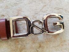 DOLCE&GABBANA leather LOGO BELT Size 90