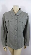 Chico's NWT Gray Long Sleeve Button Down Woman Top Jacket Size 2