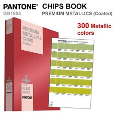 Pantone Color Plus Series GB1505 PREMIUM METALLIC CHIPS Book (Coated) 300 Colors