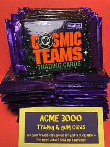 1993 Skybox COSMIC TEAMS DC Comics - 60 UNOPENED SEALED PACKS of 8 - 480 Cards