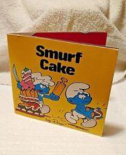 """Smurf Mini Storybooks """"SMURF CAKE"""" by Peyo  1980 By Random House of New York"""