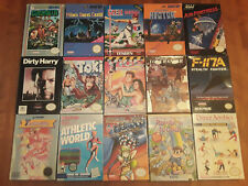 NES BOX LOT lone ranger arkista's ring toki rainbow islands nintendo boxes more!