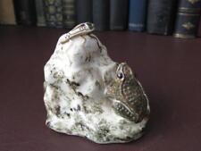 Vintage Art Pottery Study - Frog & A Pond Skater - Art Pottery