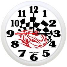 "Racing Car Wall Clock, 9"" in"