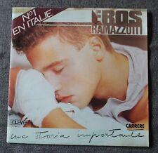 Eros Ramazzotti, una storia importante / respiro nel blu, SP - 45 tours