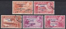 Ethiopia: Semi-postal: B6-B10, 1949 Exposition, Very fine used set, Rare