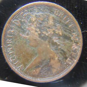 Nova Scotia 1 cent 1861 copper coin Fine, with pre-strike planchet problems [3
