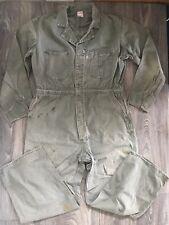 LEE UNION ALLS 50s Vtg COVERALLS Mechanic Suit Cotton Work Wear Sanforized 42