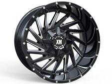 20x10 Xtreme Mudder XM316 Wheels Black Offroad Rims 33 Tire Fit 8x180 Chevy GMC