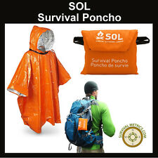 SOL Survival Poncho Adventure Medical Kits