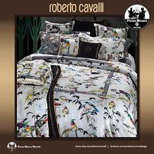 Roberto Cavalli Quilted Bedspread Double Bird Ramage Cotton Satin
