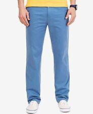 Nautica Mens Deck Pants Tide Blue Mens Size 34x30 New