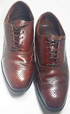Oxford wingtip brogue Sz 10.5 EEE/E leather shoes  channel stitched sole Vtg