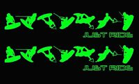 JUST RIDE WAKEBOARD TRICKS DECAL STICKER PACK WAKE