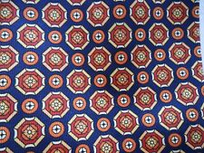 Cavenagh 100% Italian Silk Dark Blue and Burnt Orange Octagonal Design Tie