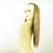 Demi-tête, demi-perruque 60cm  blond clair cuivré clair et chocolat 014 15613h4