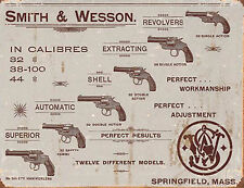 Large Vintage Style Retro Metal Tin Sign Smith Wesson Revolvers Gun Poster 1466