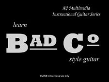 Custom Guitar Lessons,  Learn BAD CO - DVD Video