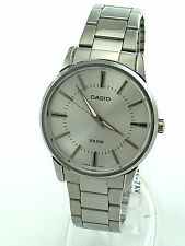 CASIO MTP1303D-7 Silver Round Dial Stainless Steel Band Analog
