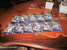 2014 NRL TRADERS CANTERBURY BULLDOGS PARALLEL TEAM SET 11 CARDS REYNOLDS
