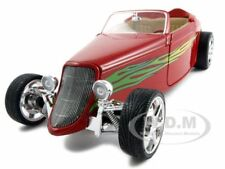 1933 FORD CONVERTIBLE RED 1:18 DIECAST MODEL CAR BY ROAD SIGNATURE 92838