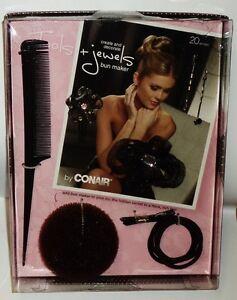 Conair Tools + Jewels BUN MAKER Create And Decorate Hidden Secret To Buns 20pc