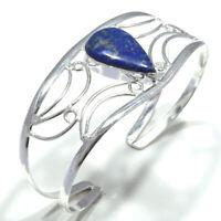 Lapis Lazuli Gemstone Handmade 925 Sterling Silver Cuff Jewelry 6566