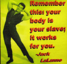 JACK LALANNE QUOTE - Printed Patch - Sew On - Vest, Jacket, Backpack, Tshirt