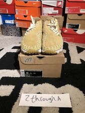 Nike Air Footscape Woven Chukka Knit Flt Gold Beach/ Vachetta Tan-SL Size 10