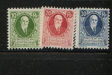 Liechtenstein  B1-3     mint   catalog  $70.50              MS1112