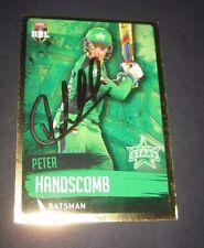 Peter Handscomb (Australia) signed Melbourne Stars  BBL  Cricket Card + COA