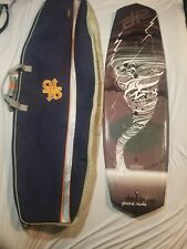 Wakeboard Double Up Brand w/ Bag / Carrying Case 55in Tornado water sport