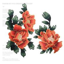2X Aufnäher Flower Zum Aufnähen patches clothing Embroidered garment applique