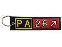 Piper PA28 Airport Taxiway Sign Embroidered Keychain. Aviation Airplane Gift.