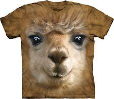 Big Face Alpaca Animal T Shirt Adult Unisex The Mountain