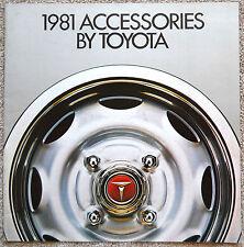 1981 TOYOTA ACCESSORIES BROCHURE -SUPRA-CELICA-COROLLA-PICKUP-LAND CRUISER