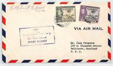 BL74 1942 Gambia First Flight Airmail Baltimore USA Cover {samwells-covers} PTS