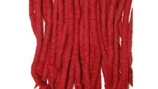 Cherry dreadlocks - 16 Handmade felted merino wool double ended dreads