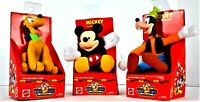 Vintage Mickey's Stuff Disney Cuddly Collectible Lot of 3: Mickey, Goofy & Pluto