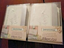 David Tutera Photo #Hashtag Tent Card White & Silver 25 count. 2 Boxes