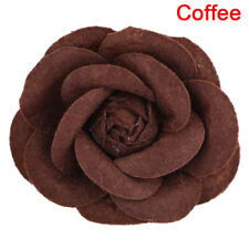 Camellia Flower Pin Brooches Craft Party Cloth Women Brooch Jewelry Accessory FG Purple